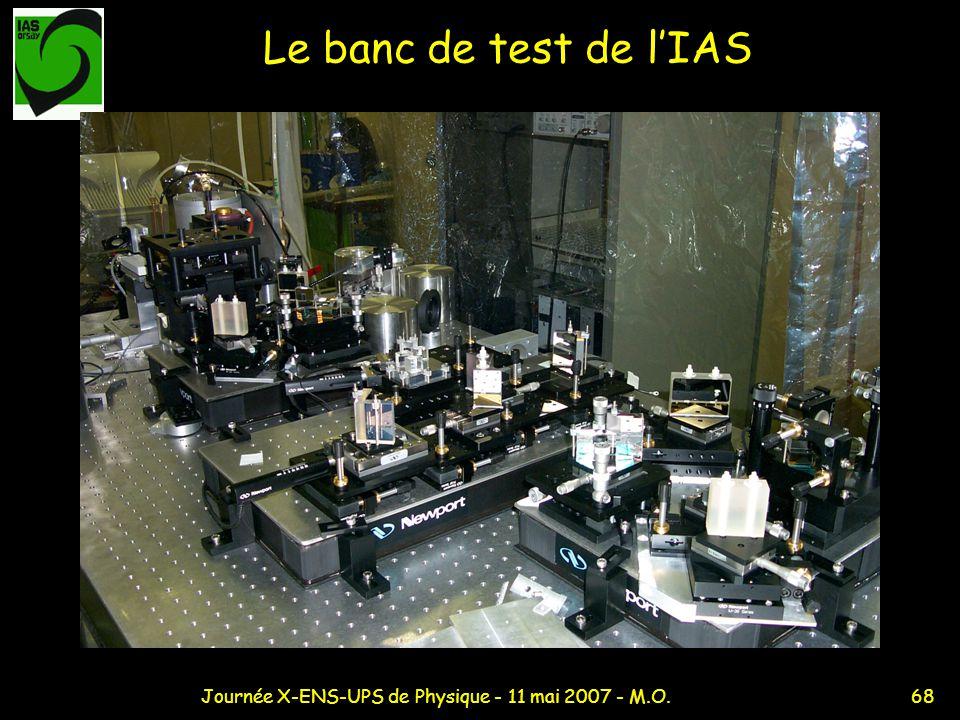 68Journée X-ENS-UPS de Physique - 11 mai 2007 - M.O. Le banc de test de lIAS