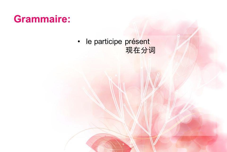 Grammaire: le participe présent
