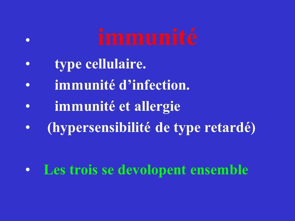 immunité type cellulaire.immunité dinfection.