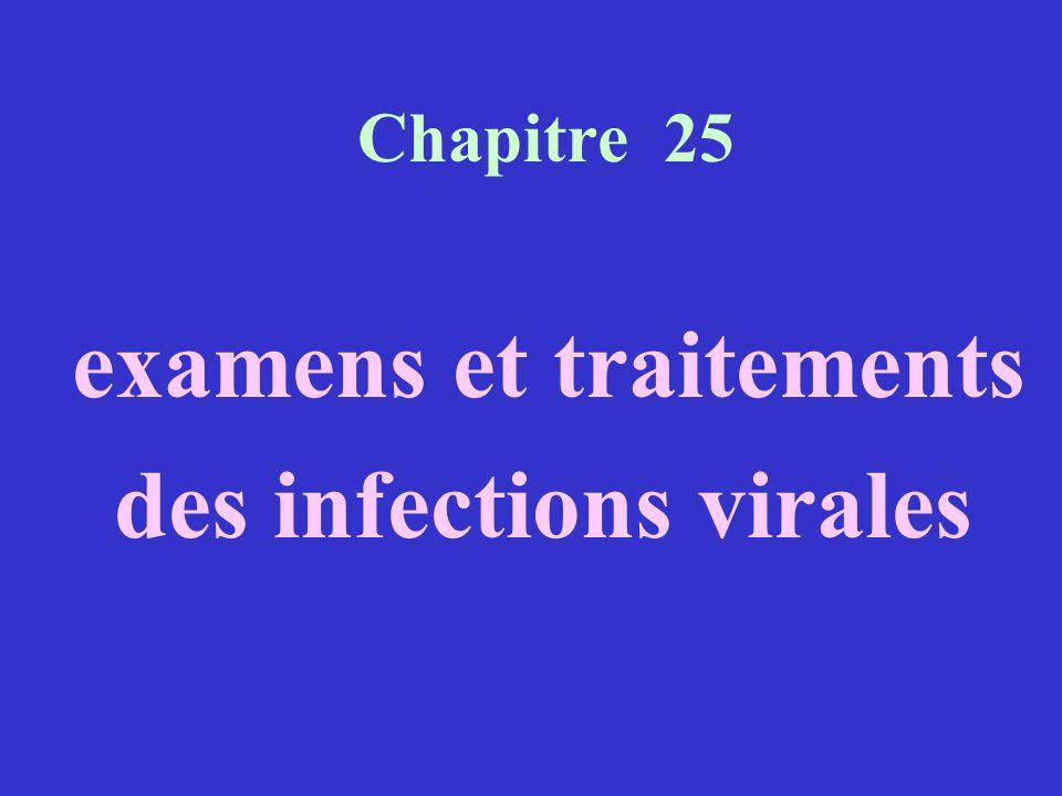 Chapitre 25 examens et traitements des infections virales