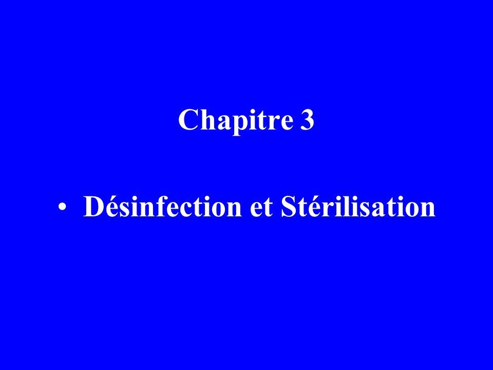 Définitions fondammentales Désinfection: Stérilisation Antisepsie Asepsie