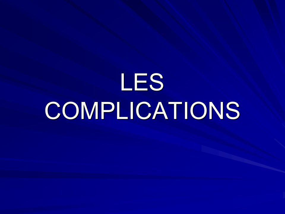 LES COMPLICATIONS LES COMPLICATIONS