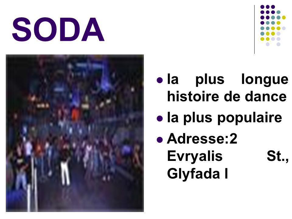 SODA la plus longue histoire de dance la plus populaire Adresse:2 Evryalis St., Glyfada l