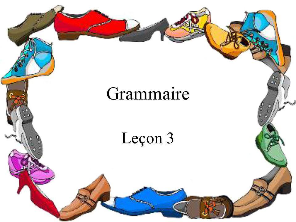 Grammaire Leçon 3