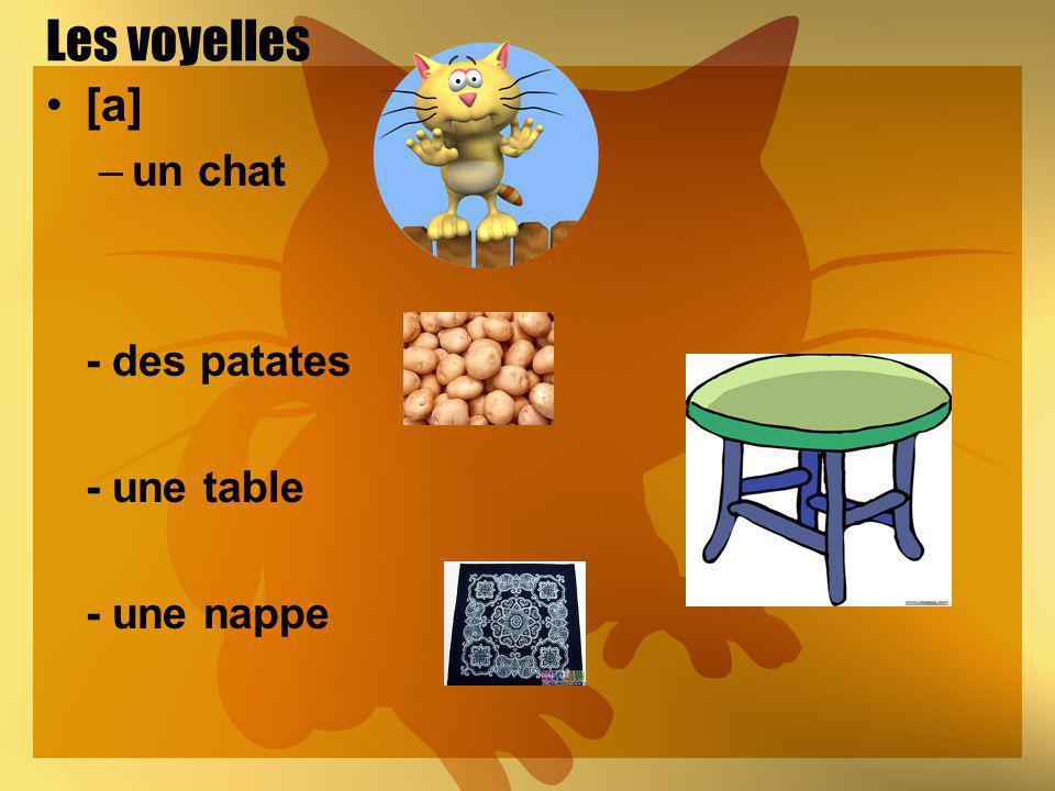 Les voyelles [a] –un chat - des patates - une table - une nappe