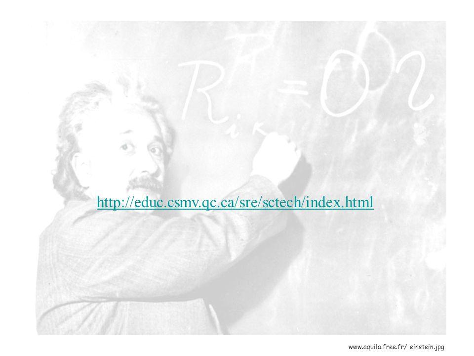 www.aquila.free.fr/ einstein.jpg http://educ.csmv.qc.ca/sre/sctech/index.html