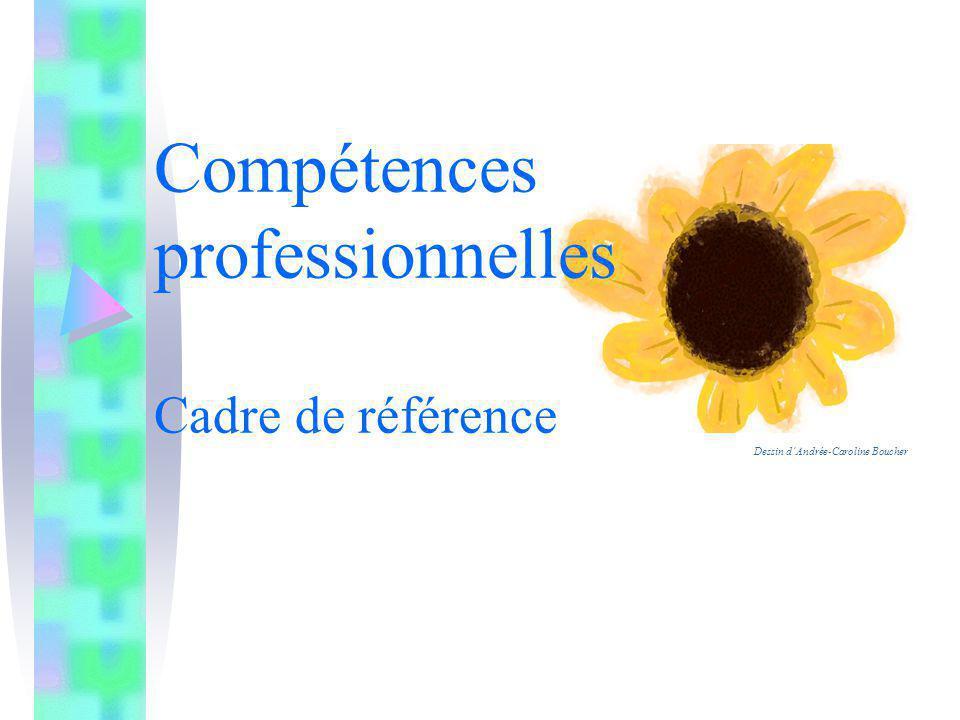 Compétences professionnelles Cadre de référence Dessin dAndrée-Caroline Boucher