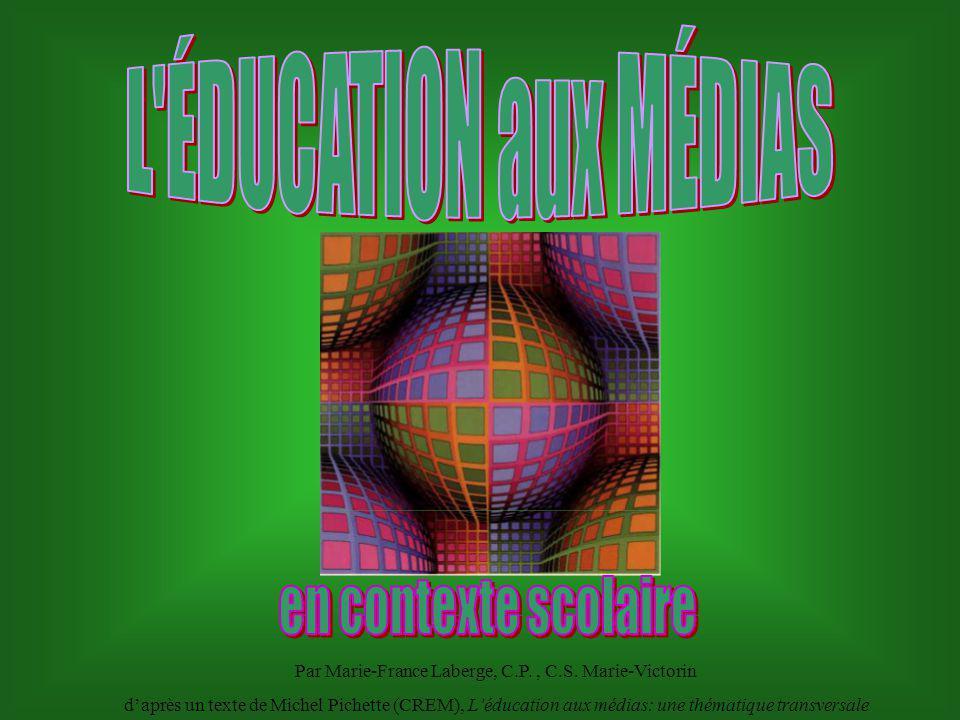 L éducation aux médias fait maintenant partie du Programme de formation en tant que thématique transversale à développer à travers les différentes disciplines à travers les différentes disciplines