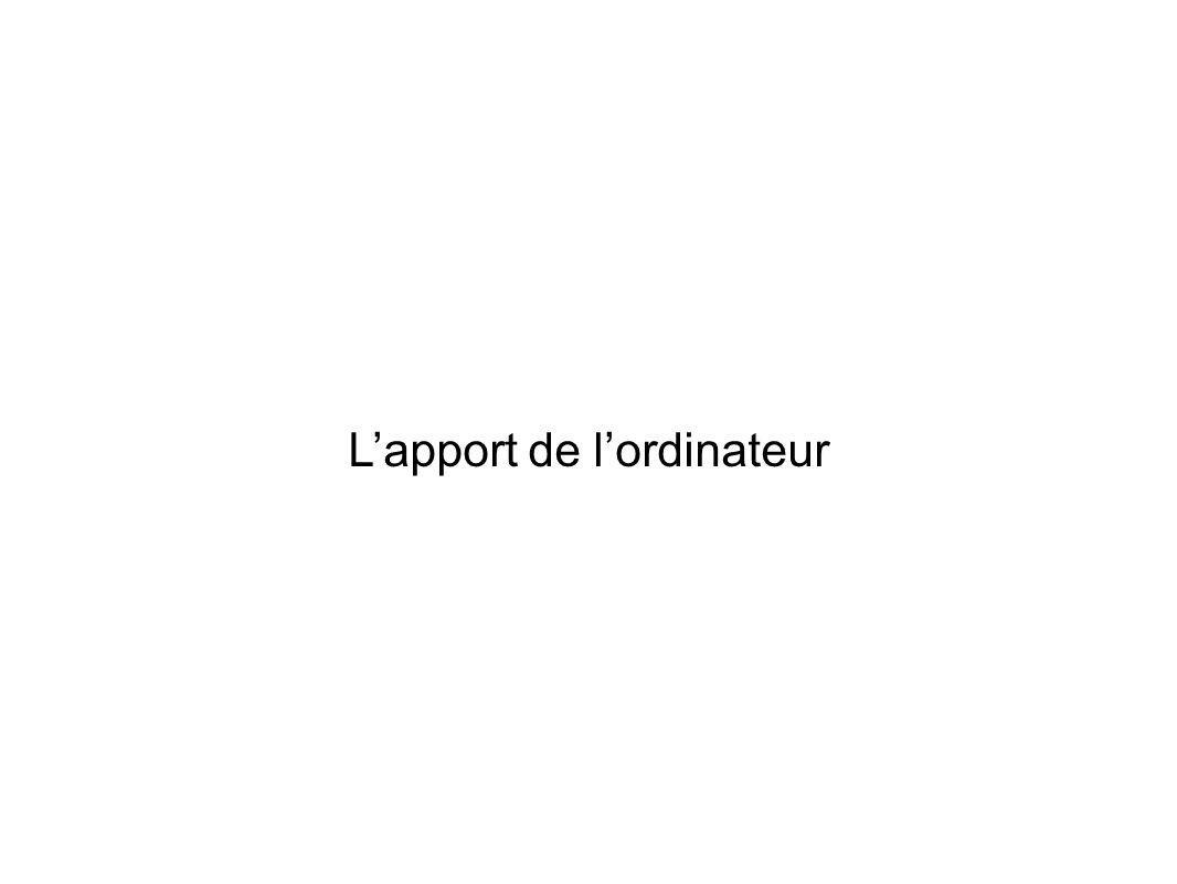Lapport de lordinateur