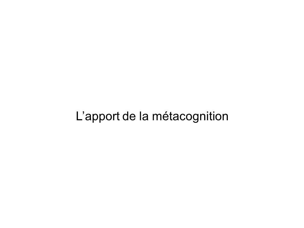 Lapport de la métacognition