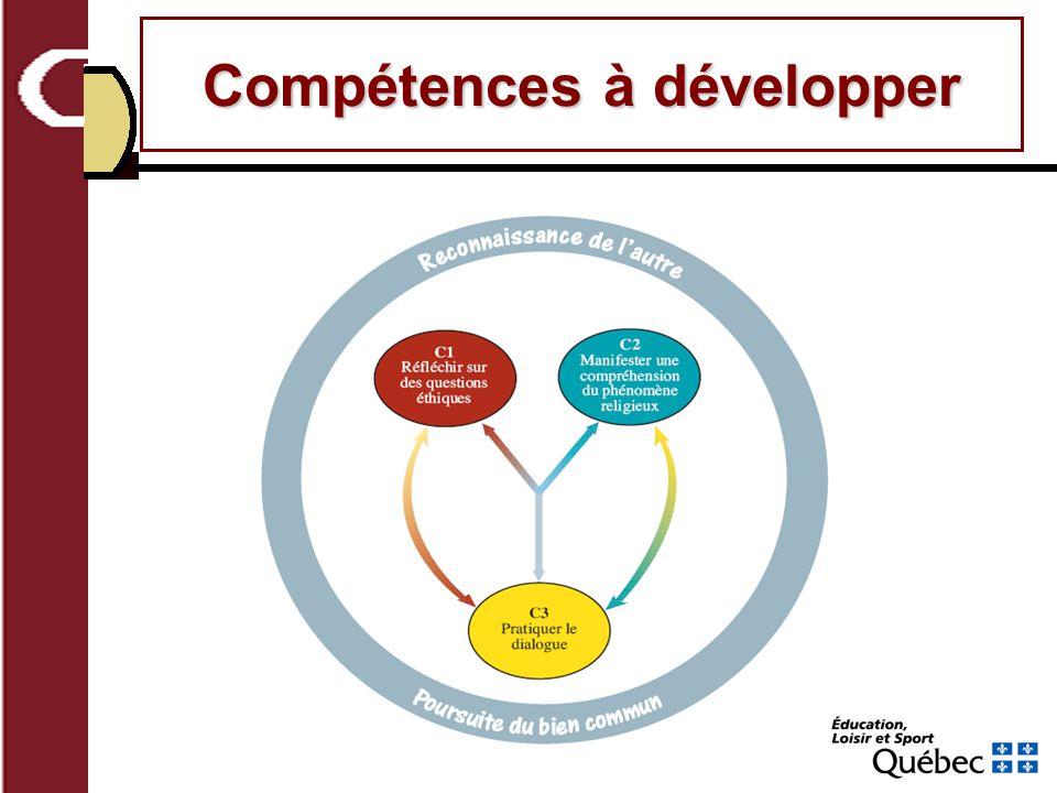 Compétences à développer