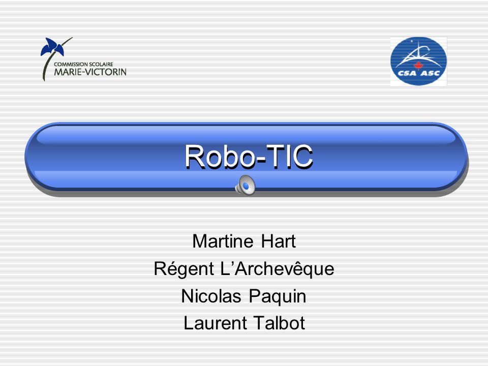 Robo-TIC Martine Hart Régent LArchevêque Nicolas Paquin Laurent Talbot