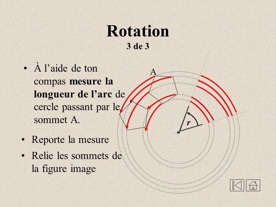 Rotation 2 de 3 Rallonge les côtés de langle pour intercepter tous les cercles r O