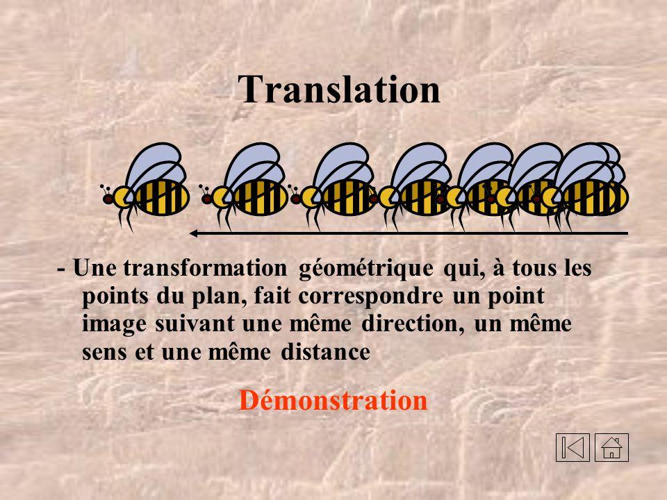 Transformations géométriques Translation Réflexion Rotation Montage de Normand Arsenault