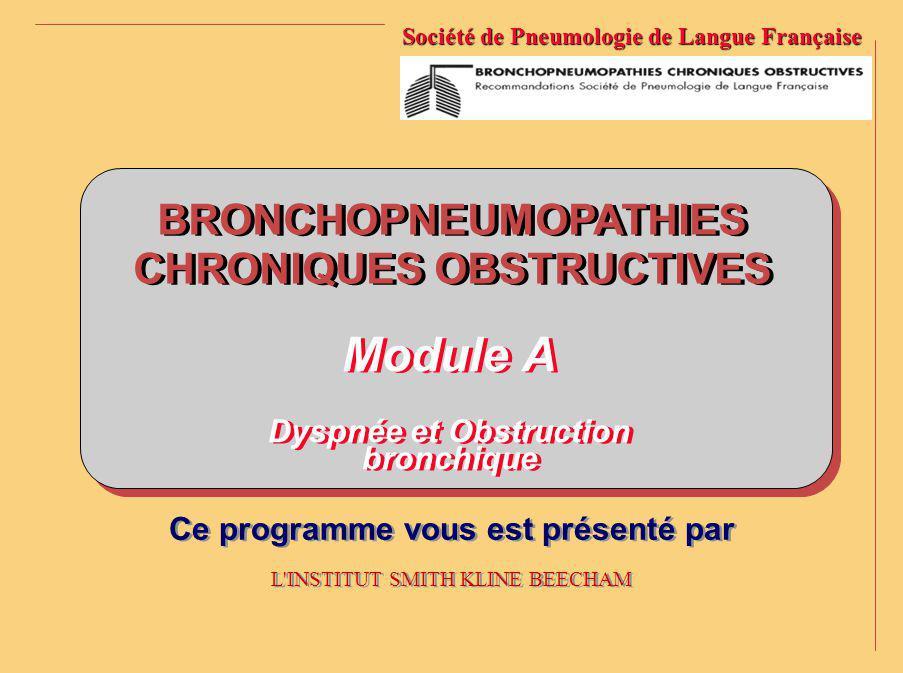 BRONCHOPNEUMOPATHIES CHRONIQUES OBSTRUCTIVES BRONCHOPNEUMOPATHIES CHRONIQUES OBSTRUCTIVES Société de Pneumologie de Langue Française Ce programme vous