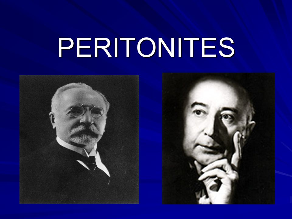 3 FORMES CLINIQUES Péritonites à symptomatologie atténuée: asthéniques Péritonites à symptomatologie atténuée: asthéniques Péritonites post-opératoires Péritonites localisées