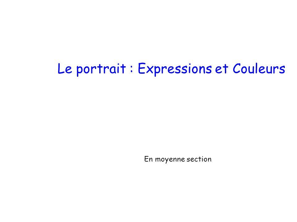 En moyenne section Le portrait : Expressions et Couleurs