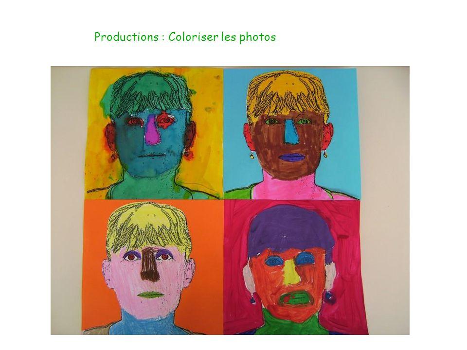 Présentation des productions en oeuvre collective :
