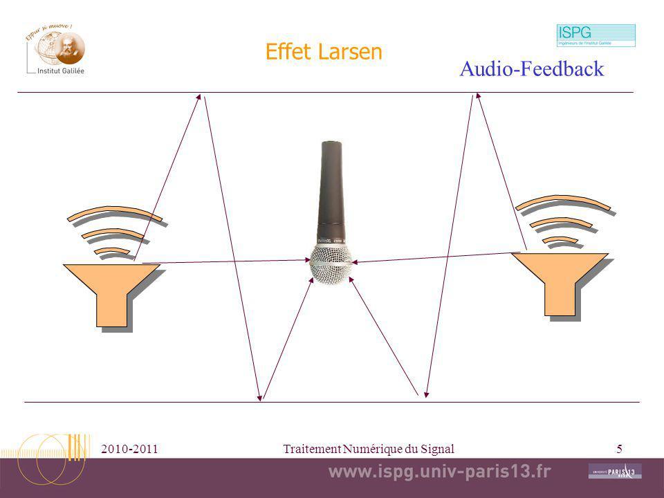 2010-2011Traitement Numérique du Signal5 Effet Larsen Audio-Feedback