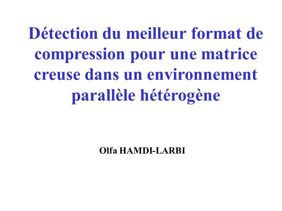 Détection du meilleur format de compression pour une matrice creuse dans un environnement parallèle hétérogène Olfa HAMDI-LARBI