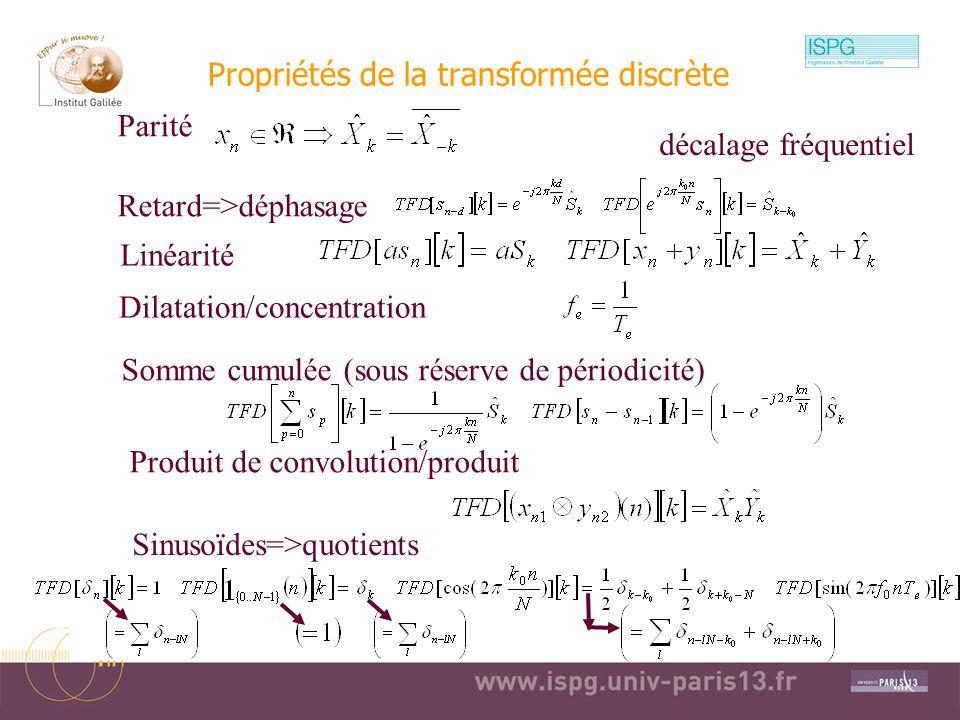 2010-2011Traitement Numérique du Signal10 Notation matricielle