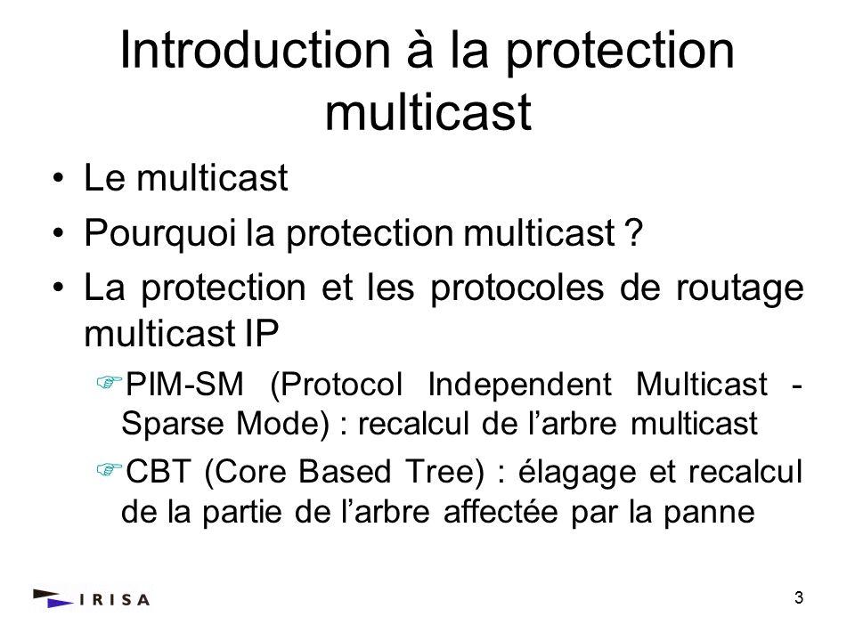 3 Introduction à la protection multicast Le multicast Pourquoi la protection multicast ? La protection et les protocoles de routage multicast IP PIM-S