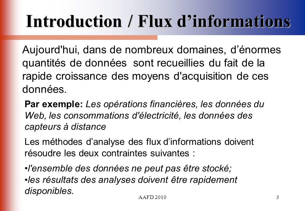 AAFD 20103 Les méthodes danalyse des flux dinformations doivent résoudre les deux contraintes suivantes : l'ensemble des données ne peut pas être stoc