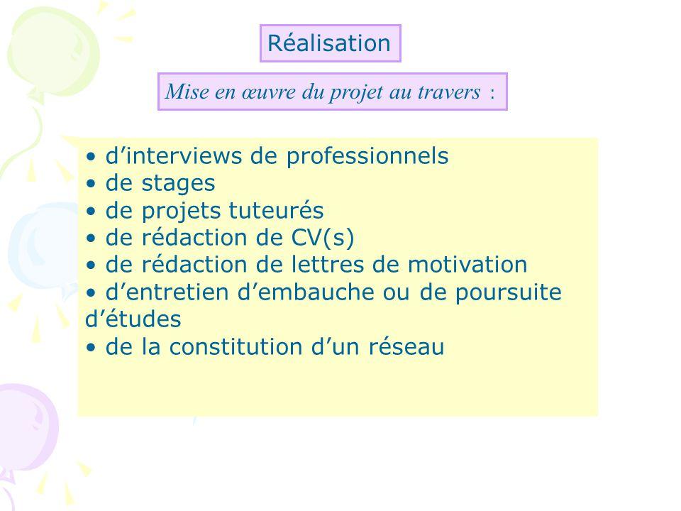 Les actions possibles (2) Rencontres inter-promo Objectifs : découverte de métiers et de parcours associés.