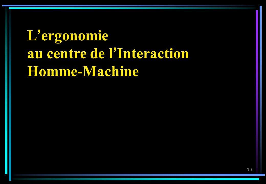 13 Lergonomie au centre de lInteraction Homme-Machine