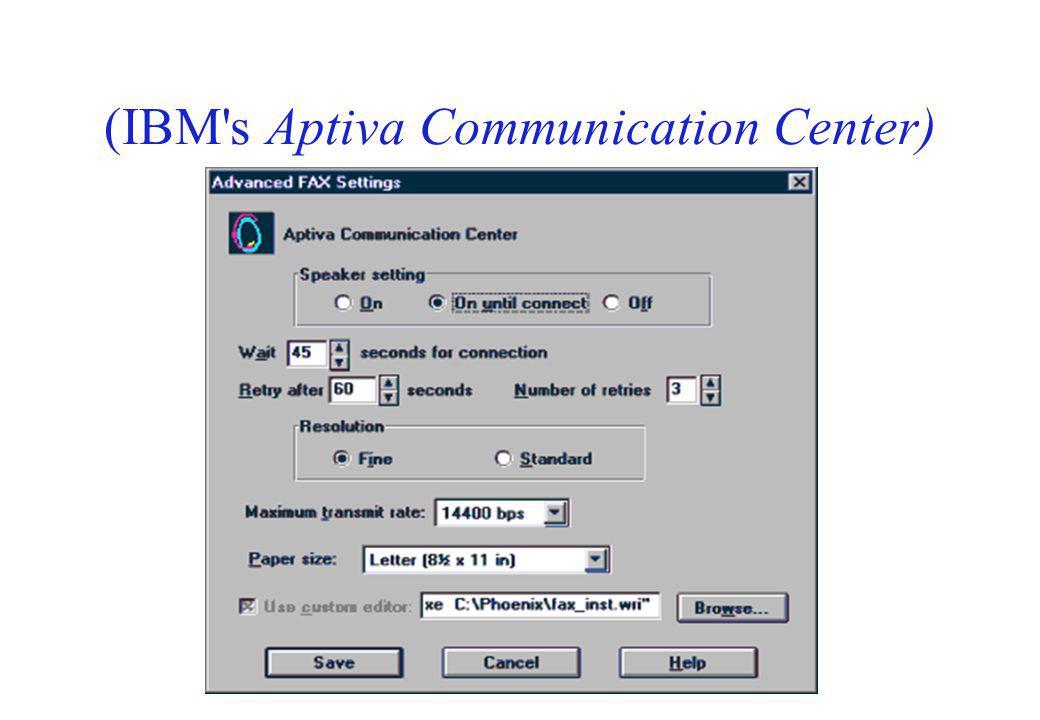 (IBM's Aptiva Communication Center)