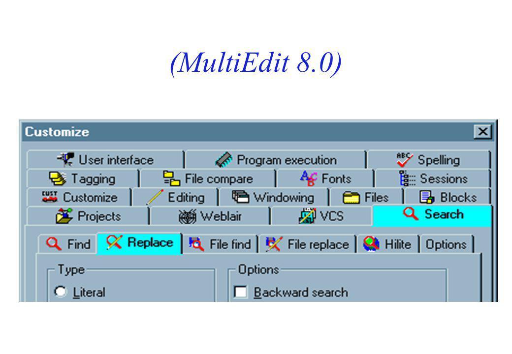 (MultiEdit 8.0)