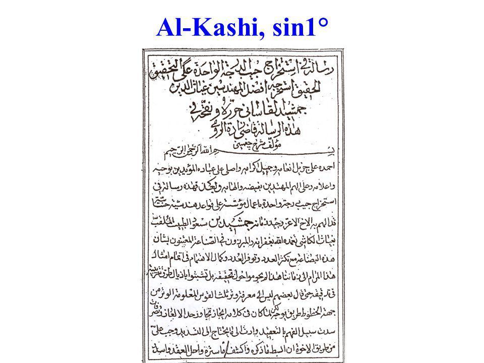 Al-Kashi, sin1°