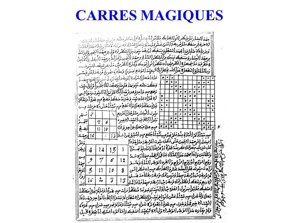 CARRES MAGIQUES