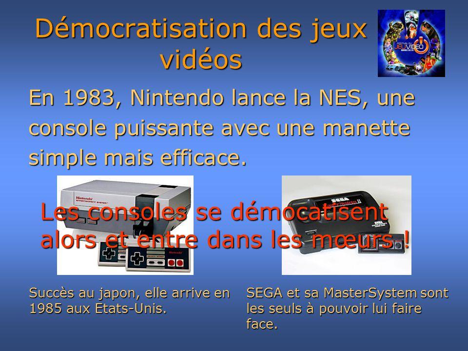 Démocratisation des jeux vidéos Mégadrive (1988) Super NES (1990)
