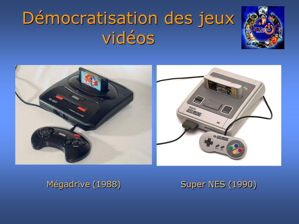 Démocratisation des jeux vidéos En 1996, la Playstation arrive sur le marché.