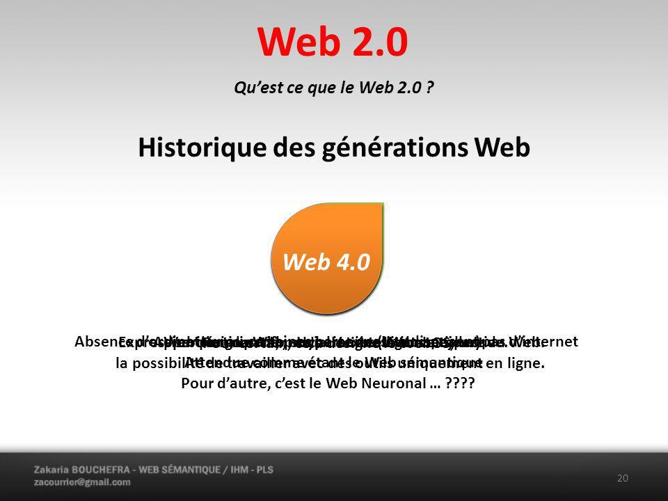 Web 2.0 Quest ce que le Web 2.0 .