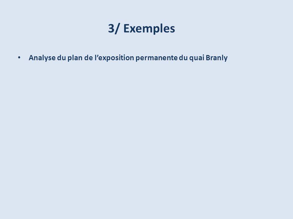 3/ Exemples Analyse du plan de lexposition permanente du quai Branly
