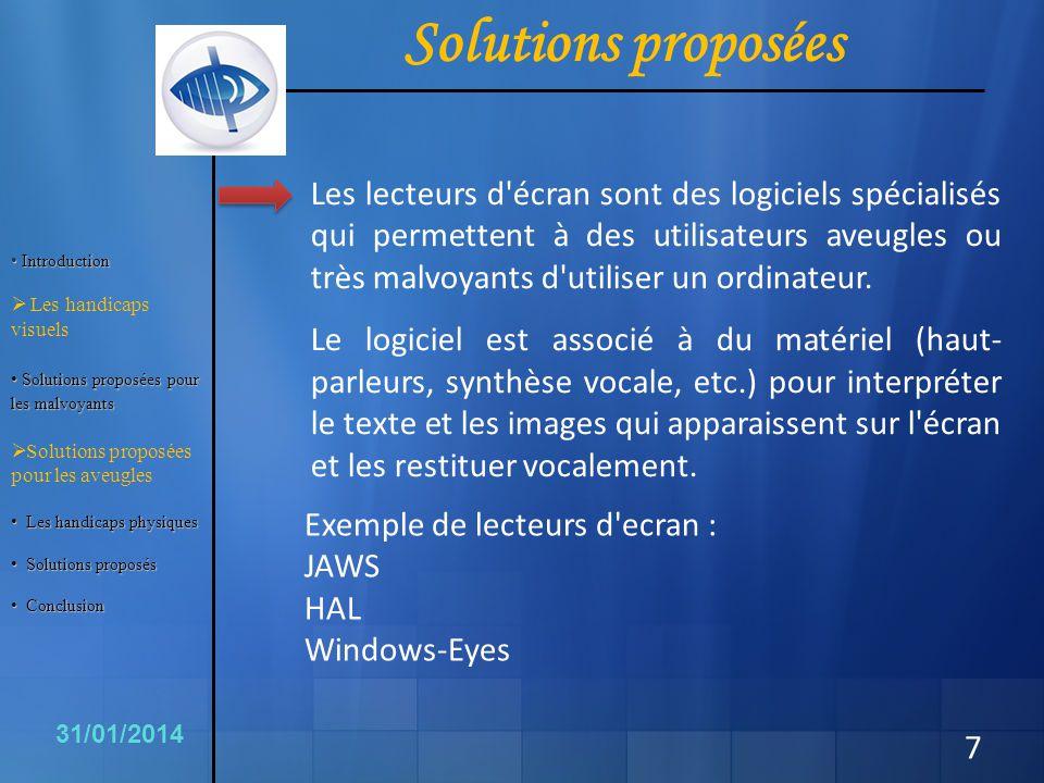 Conclusion 18 31/01/2014 Il est positif que ces outils existent.