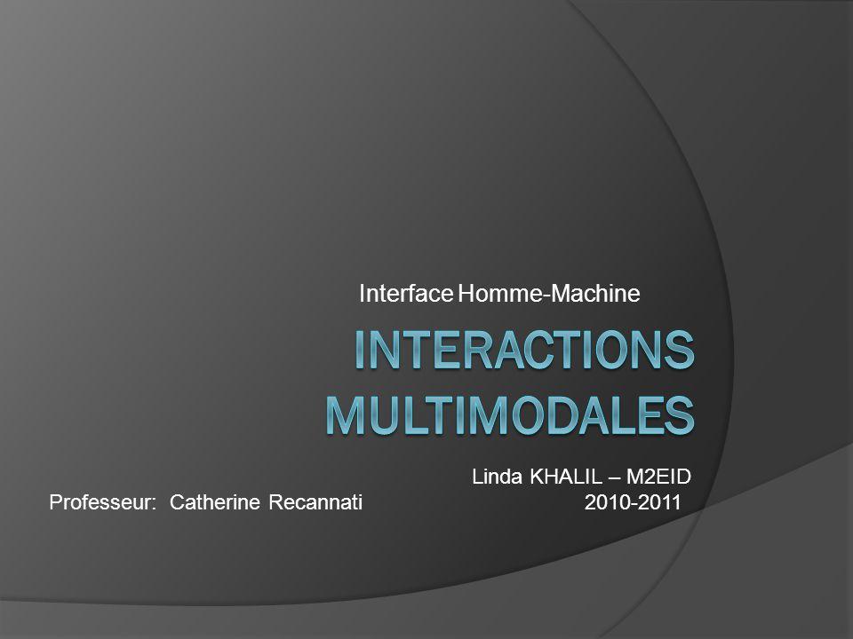 Introduction I-Concepts de multimodalité 1.Mode 2.