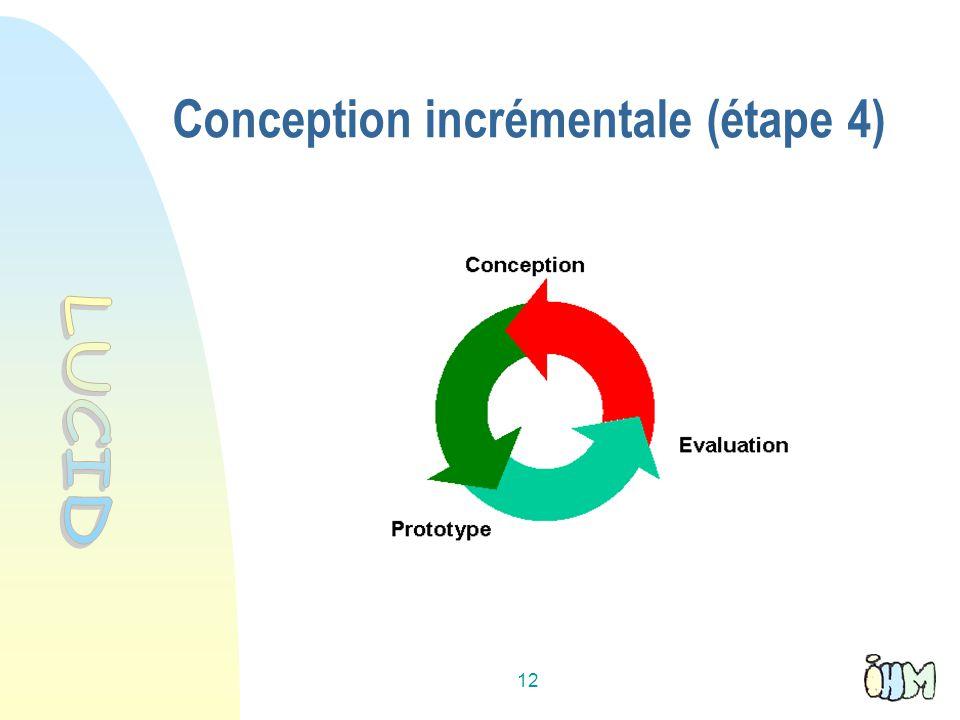 12 Conception incrémentale (étape 4)