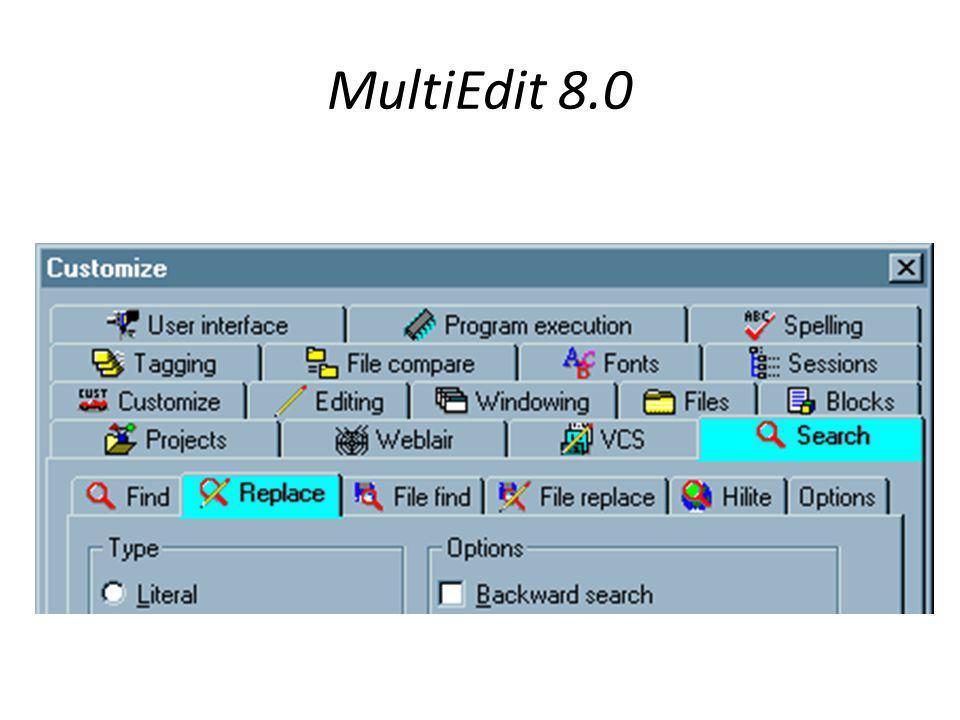 MultiEdit 8.0