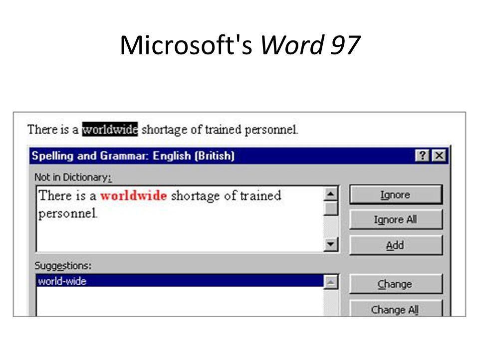 Microsoft s Word 97