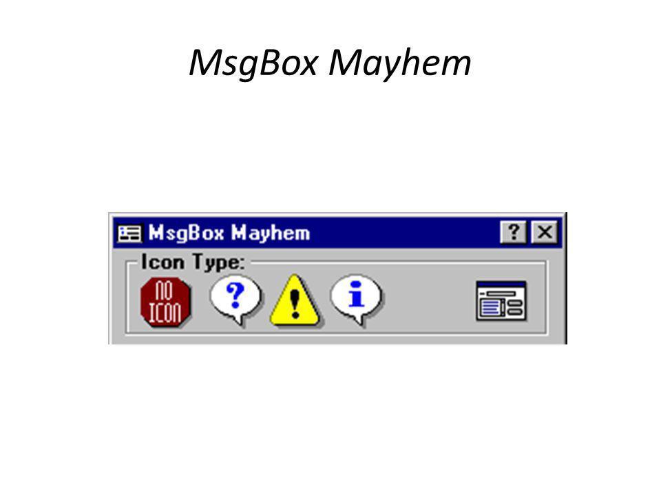 MsgBox Mayhem