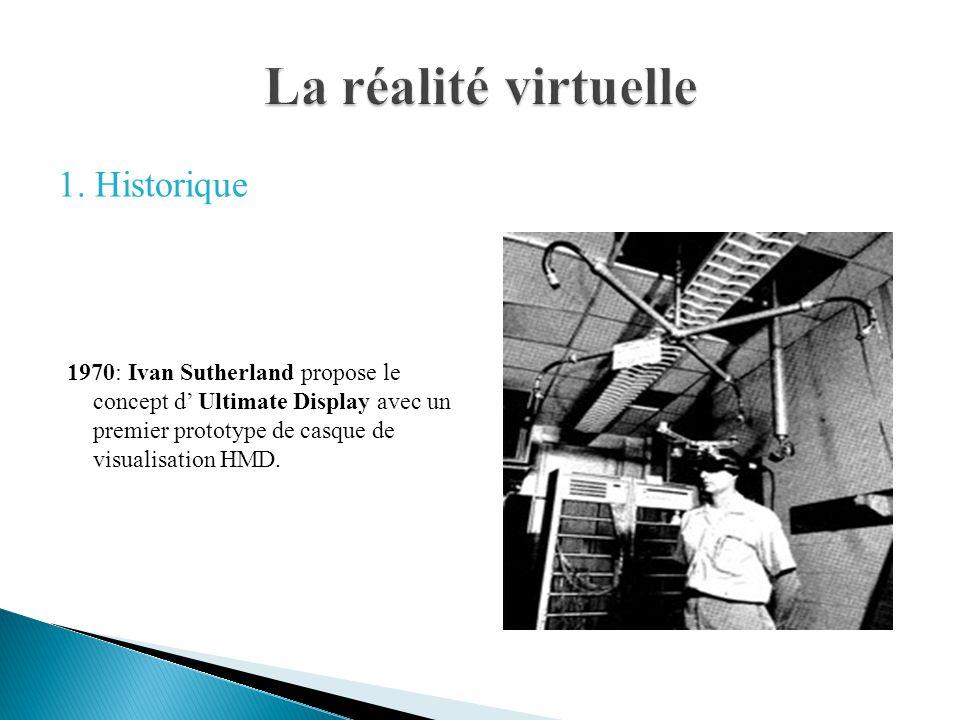 1982: Thomas Furness à développé le prototype de casque VCASS (Visually- Coupled Airborne Systems Simulator) appelé « Darth vader »
