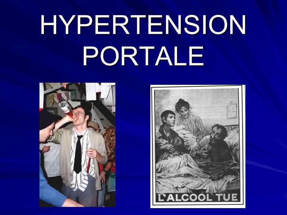 Lhypertension portale (HTP) est définie par une élévation de la pression dans la veine porte au-dessus de 10 mm Hg, ou un gradient de pression entre le territoire portal et le territoire cave au-dessus de 5 mm Hg.