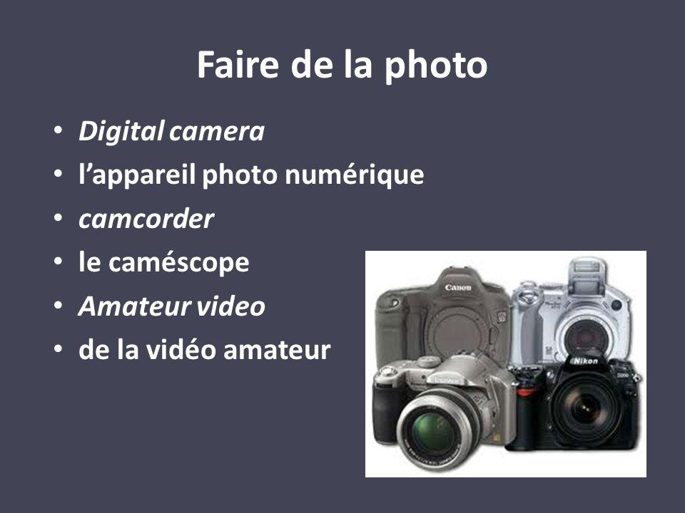 Digital camera lappareil photo numérique camcorder le caméscope Amateur video de la vidéo amateur Faire de la photo