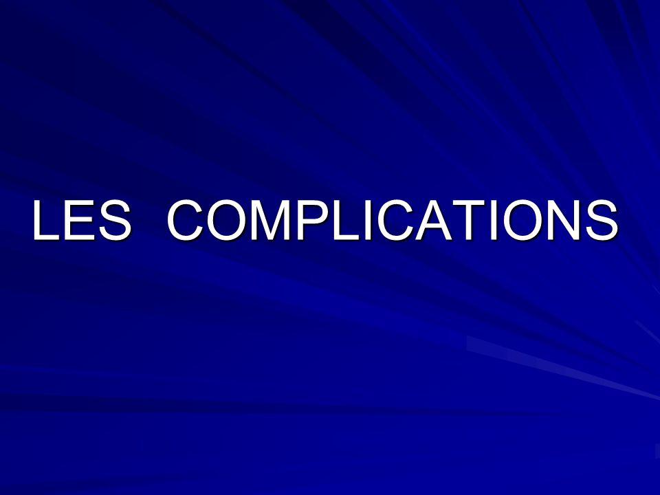 LES COMPLICATIONS LES COMPLICATIONS