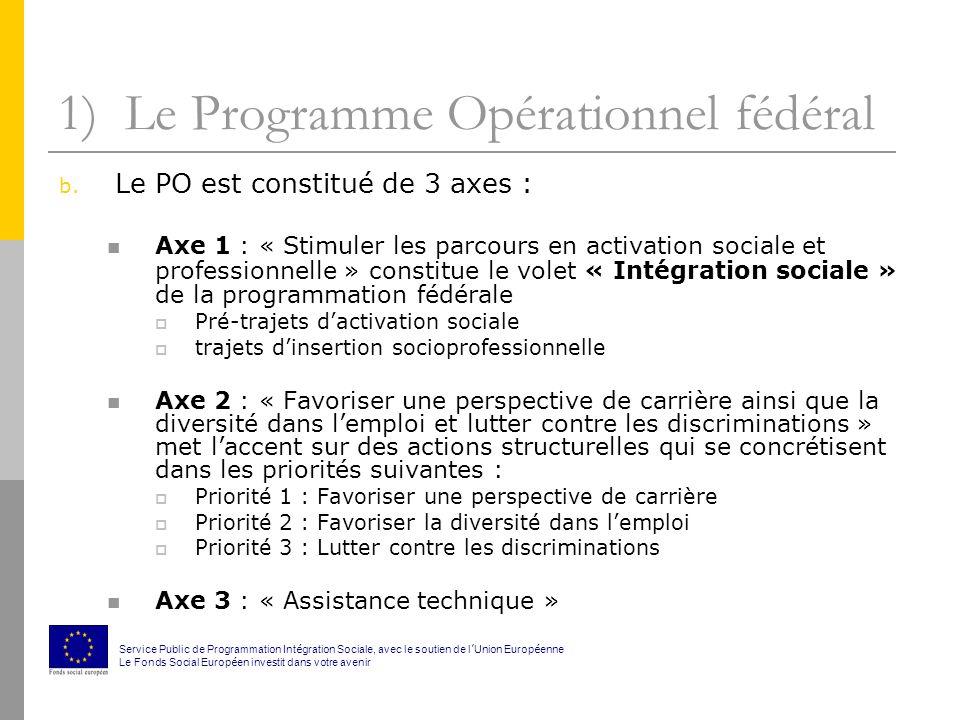 1) Le Programme Opérationnel fédéral c.