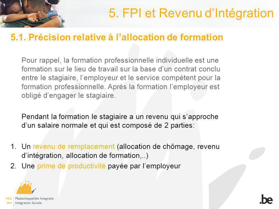 5. FPI et Revenu dIntégration 5.1.