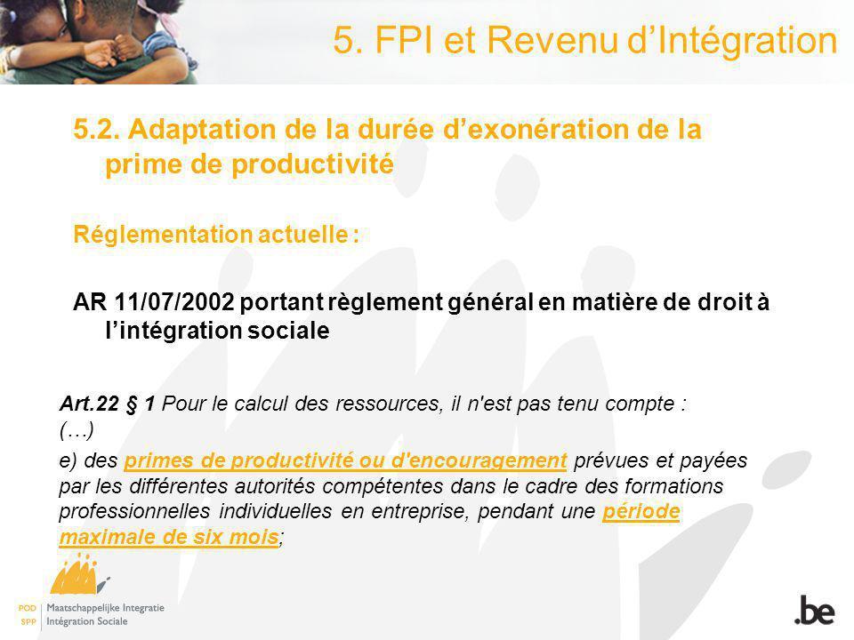 5. FPI et Revenu dIntégration 5.2.